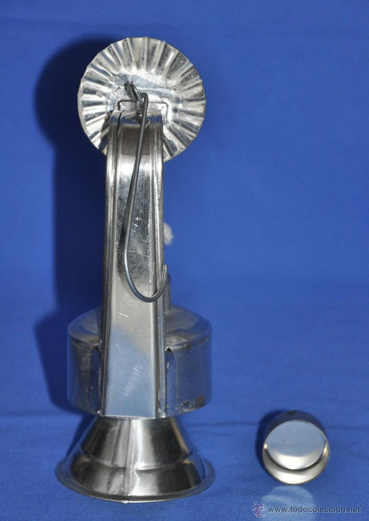 Vintage: Candil de hojalata artesanal. - Foto 5 - 46300913