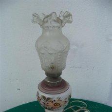 Vintage: LAMPARA DE CRISTAL SOBREMESA. Lote 46720369