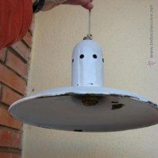 Vintage: ANTIGUA LAMPARA DE METAL ESMALTADO. SIGLO XIX. Lote 47043715