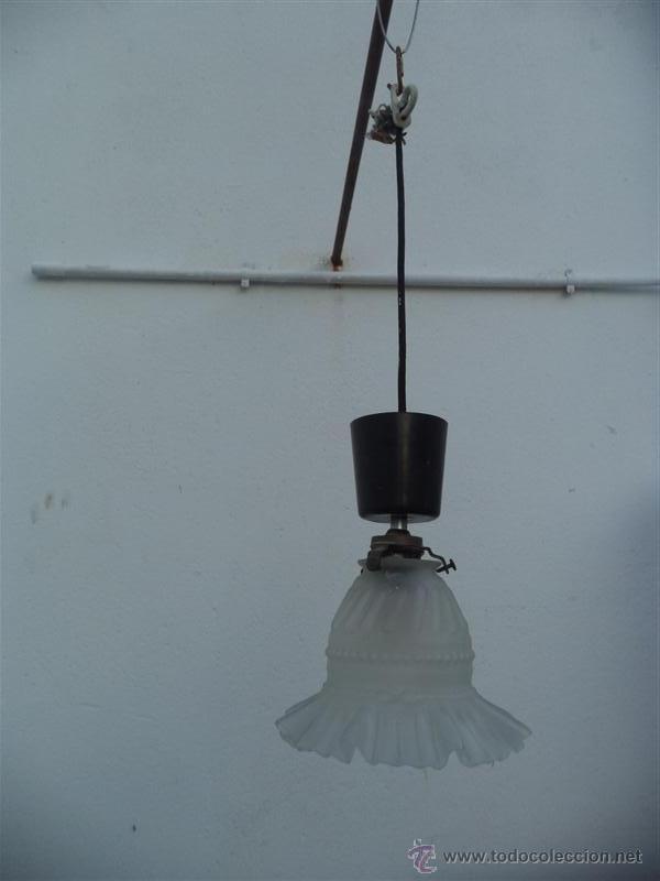 LAMPARA TULIPA (Vintage - Lámparas, Apliques, Candelabros y Faroles)