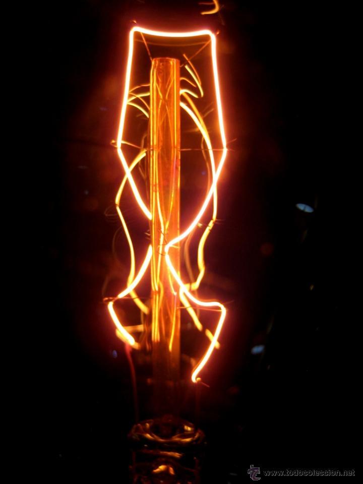 Vintage: LÁMPARA MESA EN MADERA NOGAL BOMBILLA EDISON.WALNUT WOOD TABLE LAMP BULB EDISON - Foto 6 - 47547953