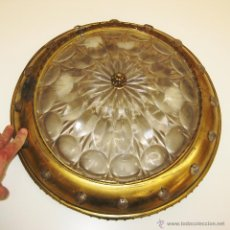 Vintage: GRAN LAMPARA ANTIGUA PLAFON DE TECHO METAL DORADO IDEAL DECORACION CLASICA Y VINTAGE. Lote 47583381