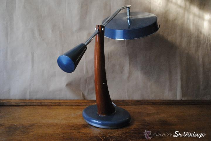 Vintage: Lámpara Fase Péndulo Vintage en tono gris. RETRO iluminación Madrid lampara fase - Foto 2 - 138551073