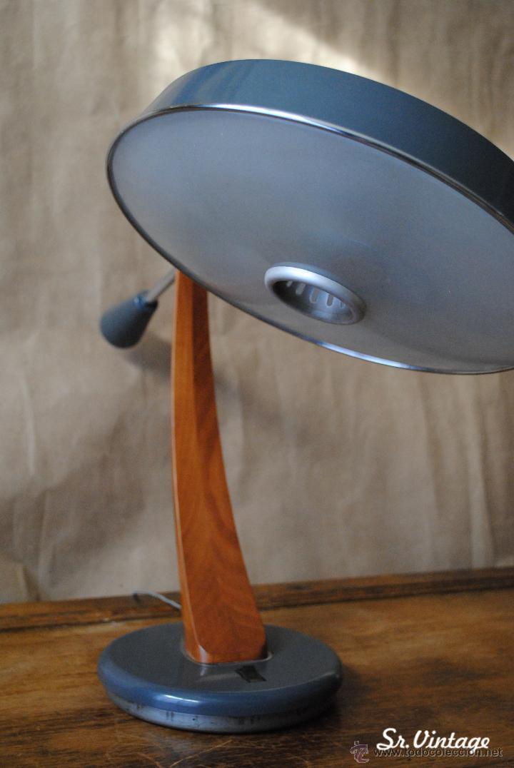 Vintage: Lámpara Fase Péndulo Vintage en tono gris. RETRO iluminación Madrid lampara fase - Foto 5 - 138551073