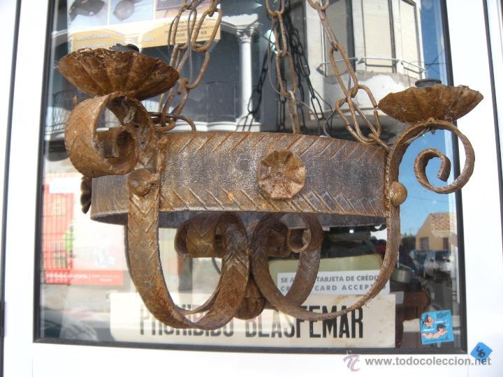 L mpara de techo en hierro forjado comprar l mparas for Faroles en hierro forjado para jardin