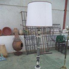Vintage: LAMPARA DE PIE MADERA POLICROMADA. Lote 48050961