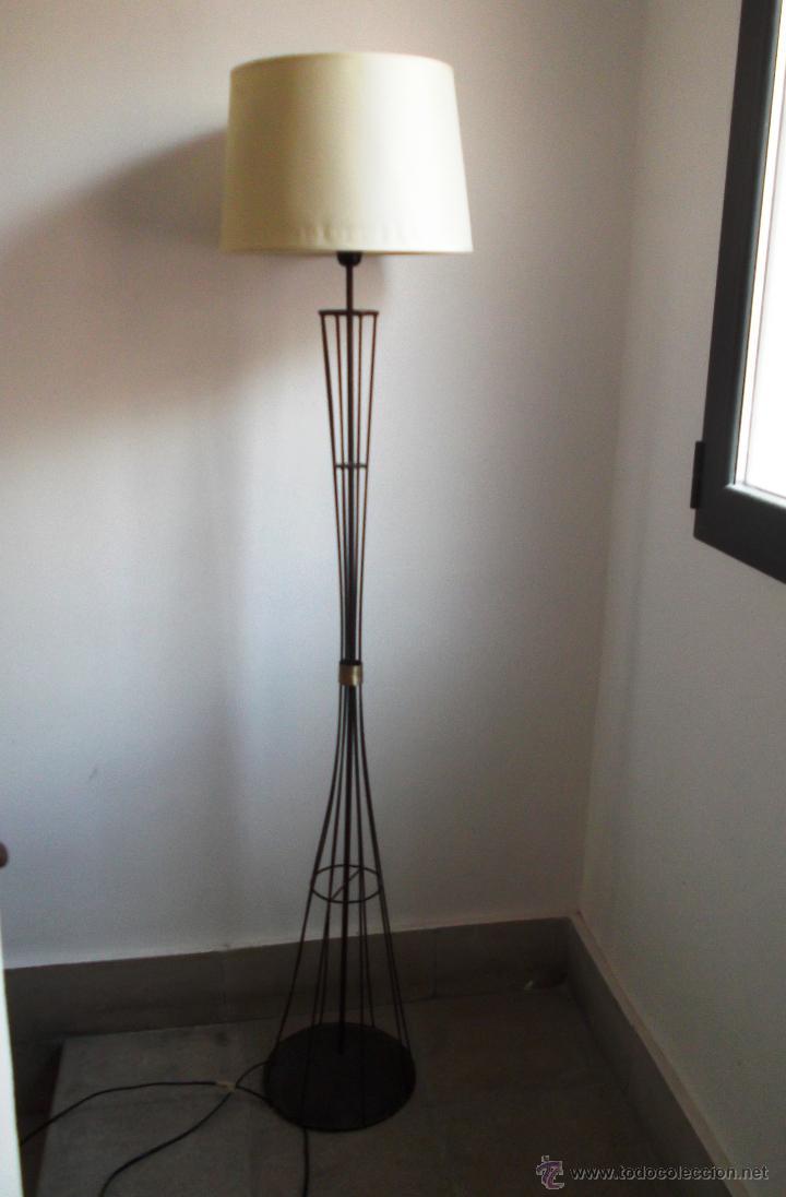 Lampara de pie mid century forja y bronce vin comprar l mparas vintage apliques - Lampara de pie vintage ...