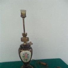 Vintage: LAMPARA METAL PORCELANA. Lote 48090172