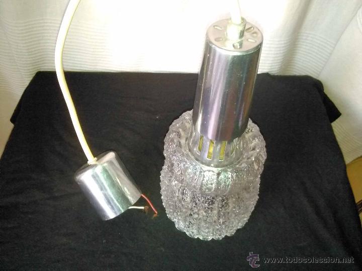 Vintage: Lampara techo tulipa vintage cristal años 60 - Foto 4 - 48194762