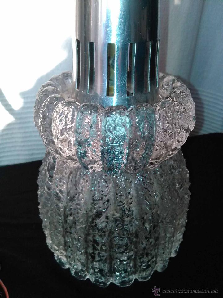 LAMPARA TECHO TULIPA VINTAGE CRISTAL AÑOS 60 (Vintage - Lámparas, Apliques, Candelabros y Faroles)