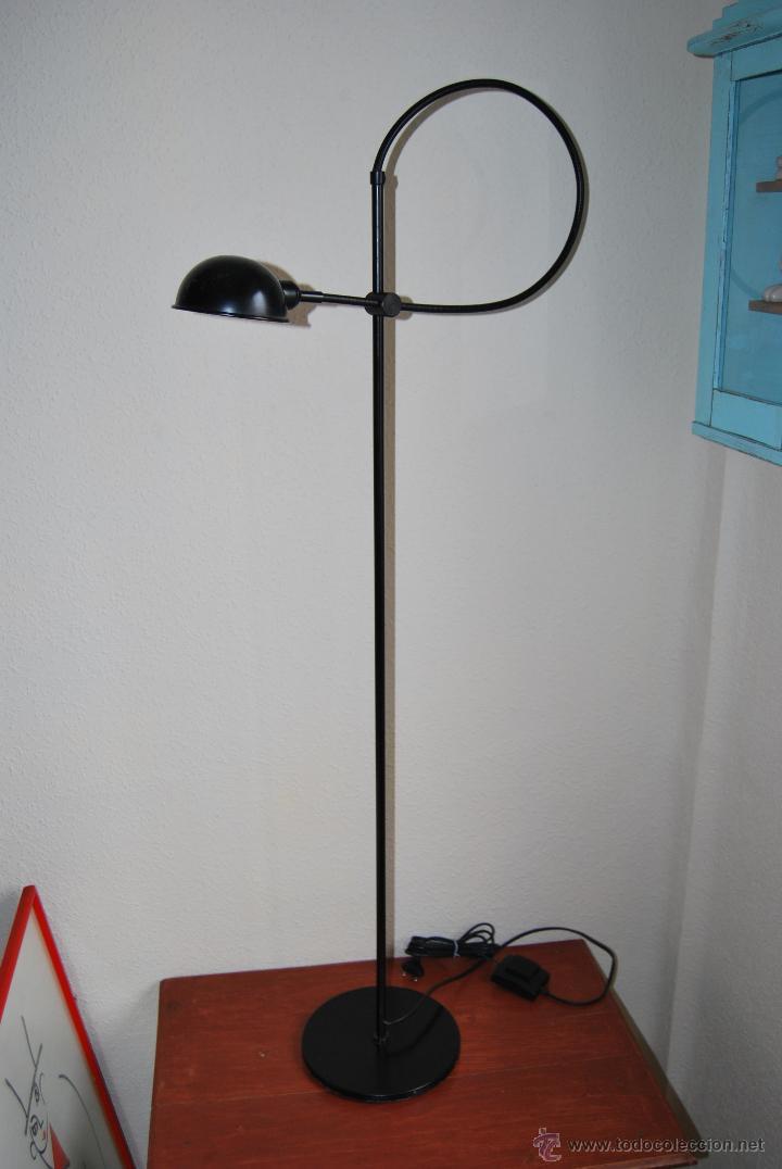 L mpara de pie flexo foco dise o a os 80 comprar l mparas vintage apliques candelabros - Lampara de pie vintage ...