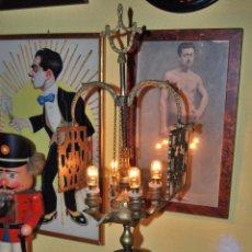 Vintage: VELÓN ELECTRIFICADO - LÁMPARA DE ACEITE EN BRONCE - AÑOS 60. Lote 48413972