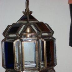 Vintage: FAROL CON CRISTAL DE COLORES. Lote 48596640