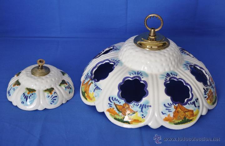 Lampara de cer mica para techo comprar l mparas vintage for Lamparas de ceramica