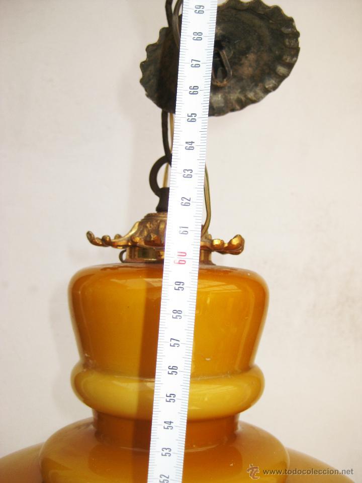Vintage: MEGA LAMPARA OPALINA 65CM CRISTAL Y BRONCE VINTAGE DECORACION CLASICA O POP - Foto 5 - 48925893