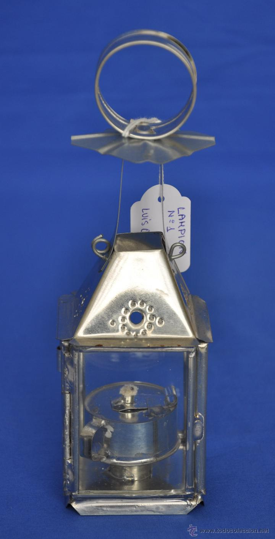 FAROL DE HOJALATA ARTESANAL PEQUEÑO. (Vintage - Lámparas, Apliques, Candelabros y Faroles)