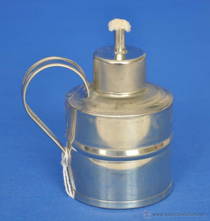 LAMPARILLA DE HOJALATA ARTESANAL. (Vintage - Lámparas, Apliques, Candelabros y Faroles)