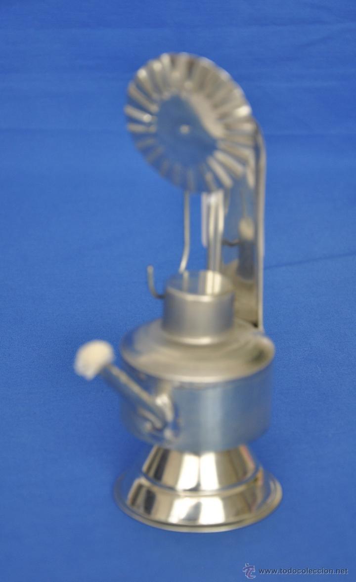 CANDIL DE HOJALATA ARTESANAL. (Vintage - Lámparas, Apliques, Candelabros y Faroles)