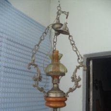 Vintage: LAMPARA DE CALAMINA Y CERAMICA. Lote 49323627