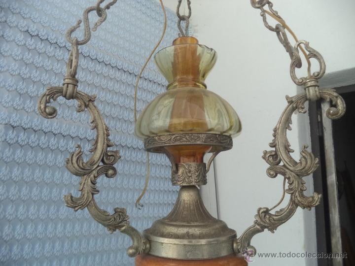 Vintage: lampara de calamina y ceramica - Foto 2 - 49323627