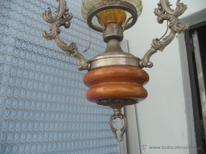 Vintage: lampara de calamina y ceramica - Foto 3 - 49323627