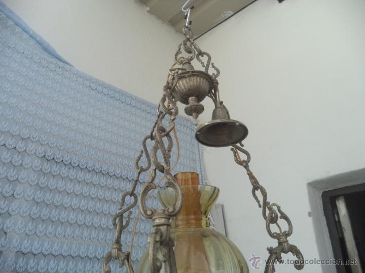 Vintage: lampara de calamina y ceramica - Foto 4 - 49323627