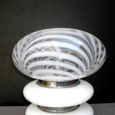 Vintage - ELEGANTE LAMPARA VINTAGE AÑOS 60 SPACE AGE DISEÑO ITALIANO CRISTAL MURANO MAZZEGA SETA - 49537480