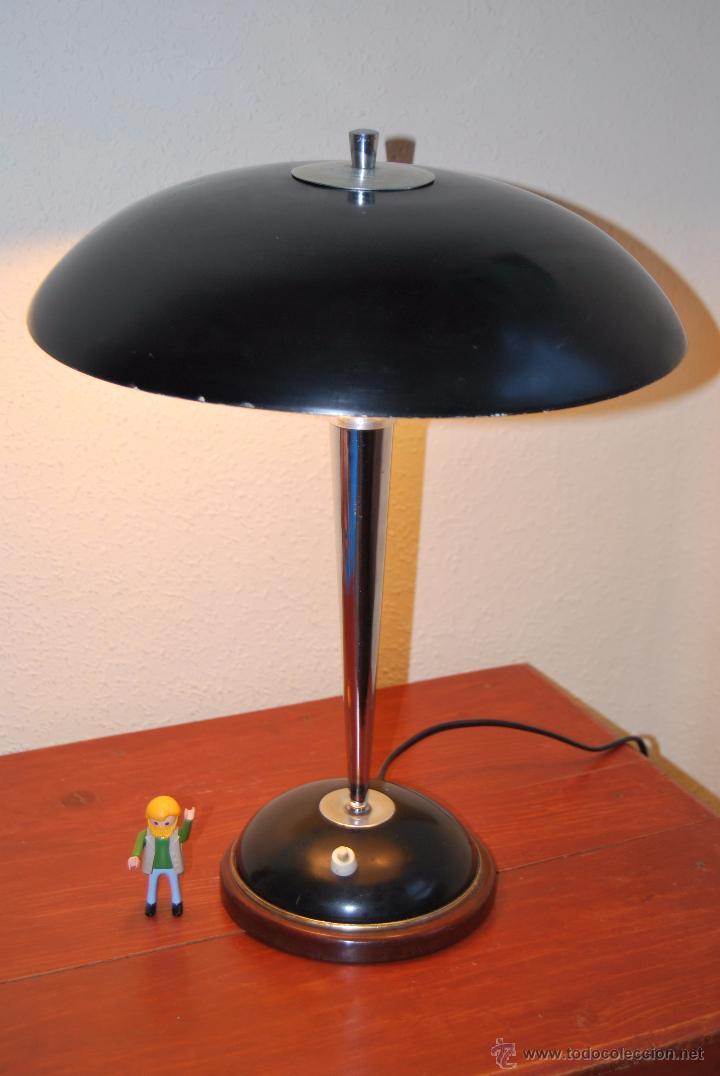 L mpara de sobremesa dise o a os 50 60 base comprar l mparas vintage apliques - Lampara de pie vintage ...