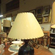 Vintage: LAMPARA DE SOBREMESA CON BASE CERÁMICA, VINTAGE. Lote 50096858