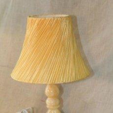 Vintage: LAMPARA DE SOBREMESA CON PIE EN ALABASTRO. Lote 50226098