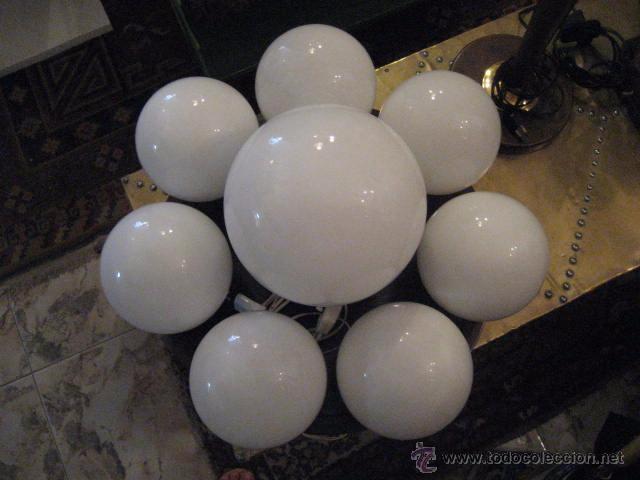 chulisima lampara para techopared o sobremesa de globos blancos super vintage funcionando