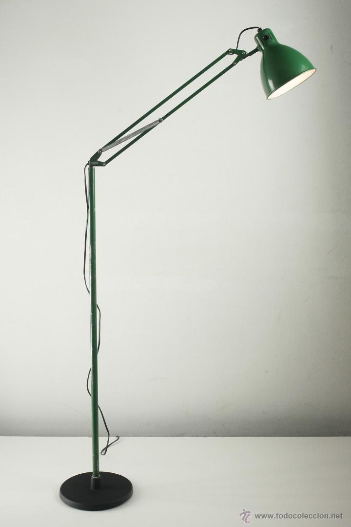 L mpara de pie metalarte arma flexo articulado comprar l mparas vintage apliques candelabros - Lampara de pie vintage ...