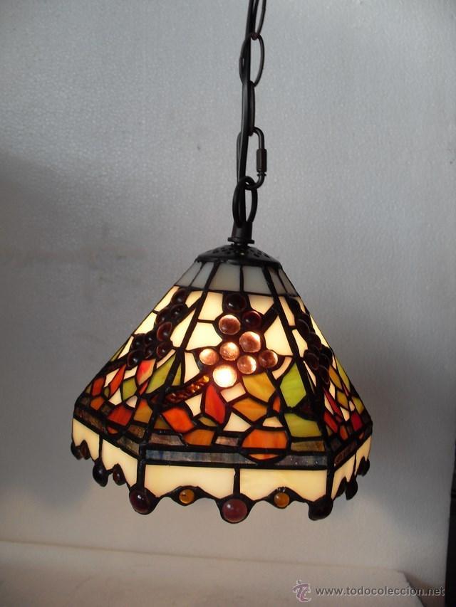 LÁMPARA DE TECHO ESTILO TIFFANY (Vintage - Lámparas, Apliques, Candelabros y Faroles)