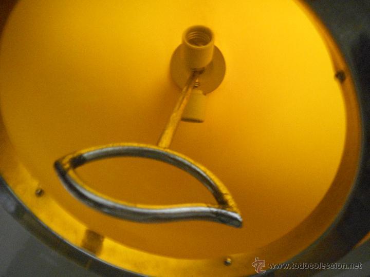 Vintage: gran lampara vintage naranja 40 cm diametro sube y baja funcionando bien color muy vivo - Foto 3 - 50796040
