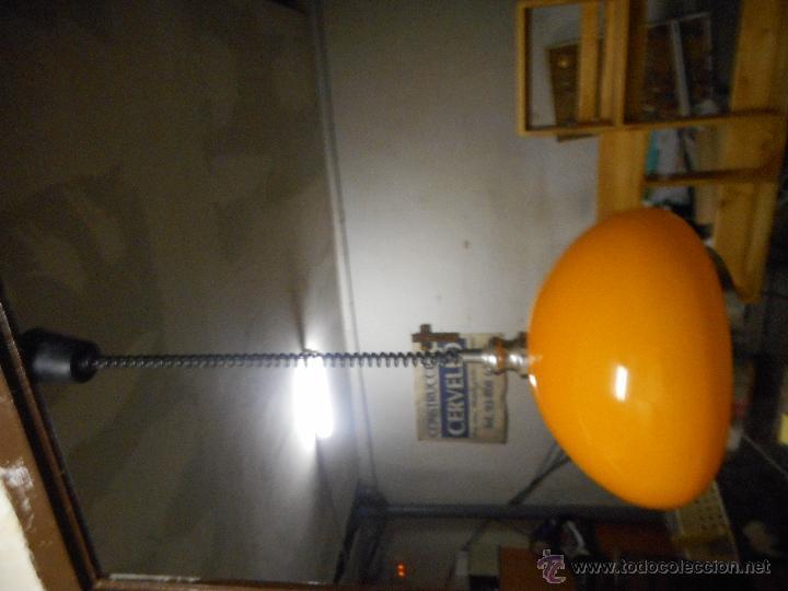 Vintage: gran lampara vintage naranja 40 cm diametro sube y baja funcionando bien color muy vivo - Foto 7 - 50796040