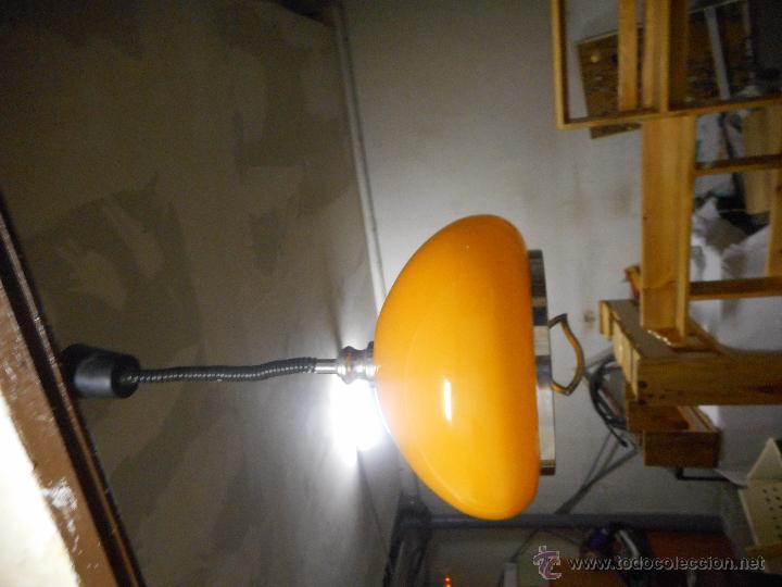 Vintage: gran lampara vintage naranja 40 cm diametro sube y baja funcionando bien color muy vivo - Foto 8 - 50796040