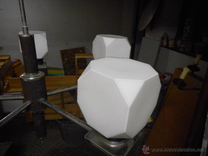 Vintage: gran lampara vintage espectacular diseño muy decorativa opalina cuadrada funcionando - Foto 6 - 50796170