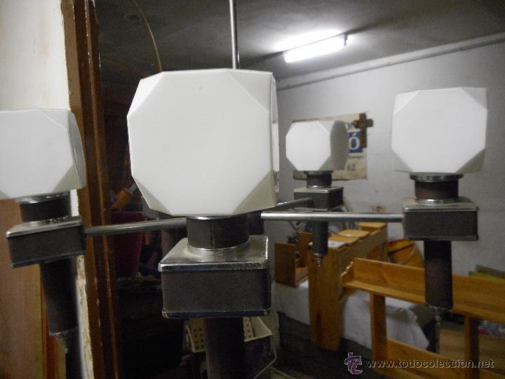 Vintage: gran lampara vintage espectacular diseño muy decorativa opalina cuadrada funcionando - Foto 7 - 50796170