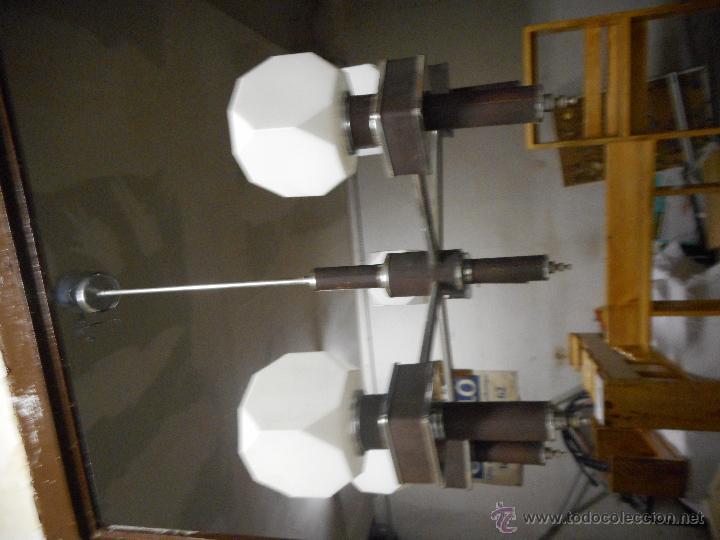 Vintage: gran lampara vintage espectacular diseño muy decorativa opalina cuadrada funcionando - Foto 9 - 50796170