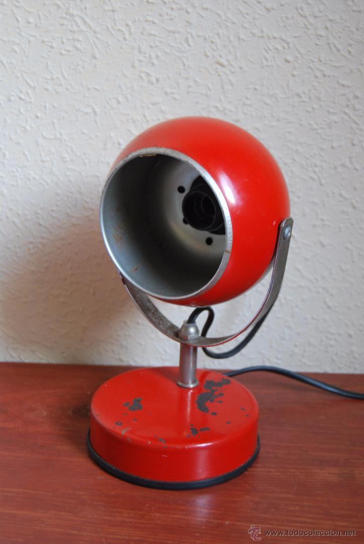 LÁMPARA DE SOBREMESA - FOCO - VENETA LUMI - ITALIA - DISEÑO AÑOS 60-70 (Vintage - Lámparas, Apliques, Candelabros y Faroles)