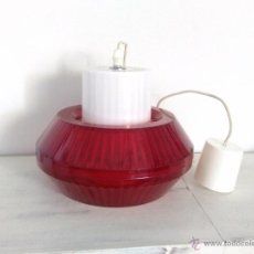 Vintage: LAMPARA TECHO VINTAGE RETRO POP SPACE-AGE ROJA. Lote 50965372