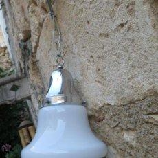 Vintage: LAMPARA TECHO VINTAGE TULIPA CRISTAL. Lote 50971808