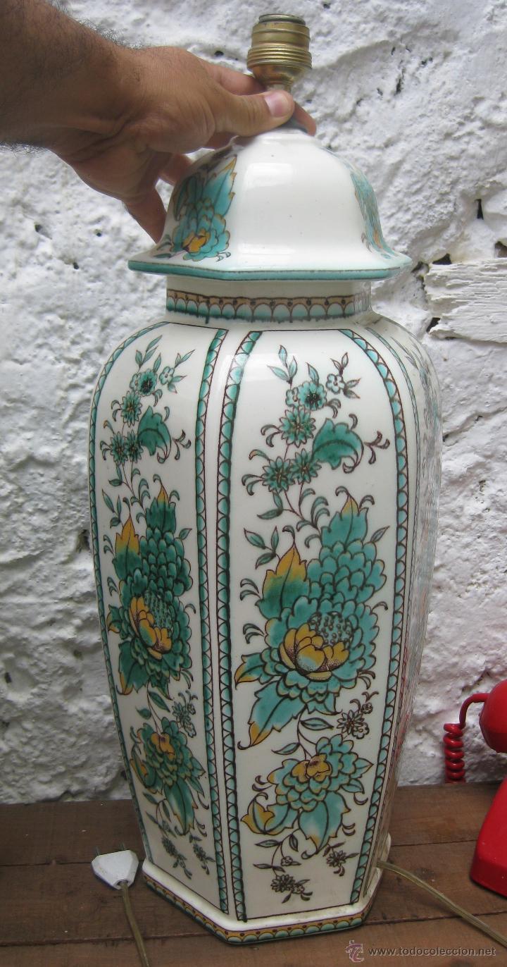 Vintage: ENORME PAREJA DE LAMPARAS 60CM CERAMICA MANISES VINTAGE CH HISPANIA ELEGANTISIMA - Foto 2 - 51124635