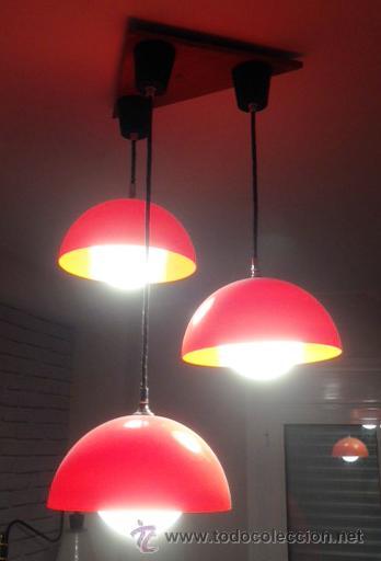 270e66599f0 Lampara de techo en plastico color naranja