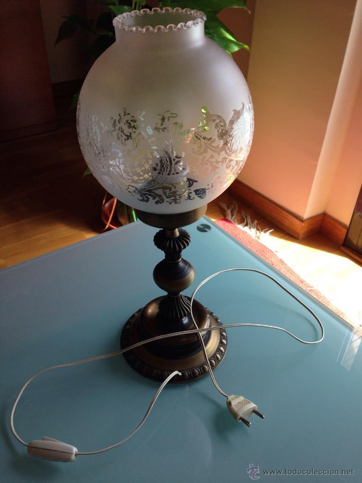 Preciosa lampara o quinque de sobremesa mesita vendido - Lamparas para mesitas de noche ...