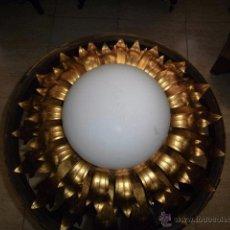 Vintage: LAMPARA DE TECHO VINTAGE HOJAS SOBREDORADAS . Lote 51687875