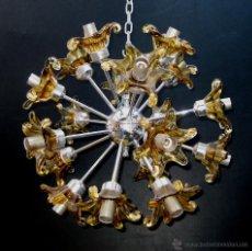 Vintage: BESTIAL LAMPARA EMIL STEJNAR VINTAGE 20 LUCES CRISTAL MURANO AÑOS 70 TIPO SPUTNIK MAZZEGA. Lote 51943379