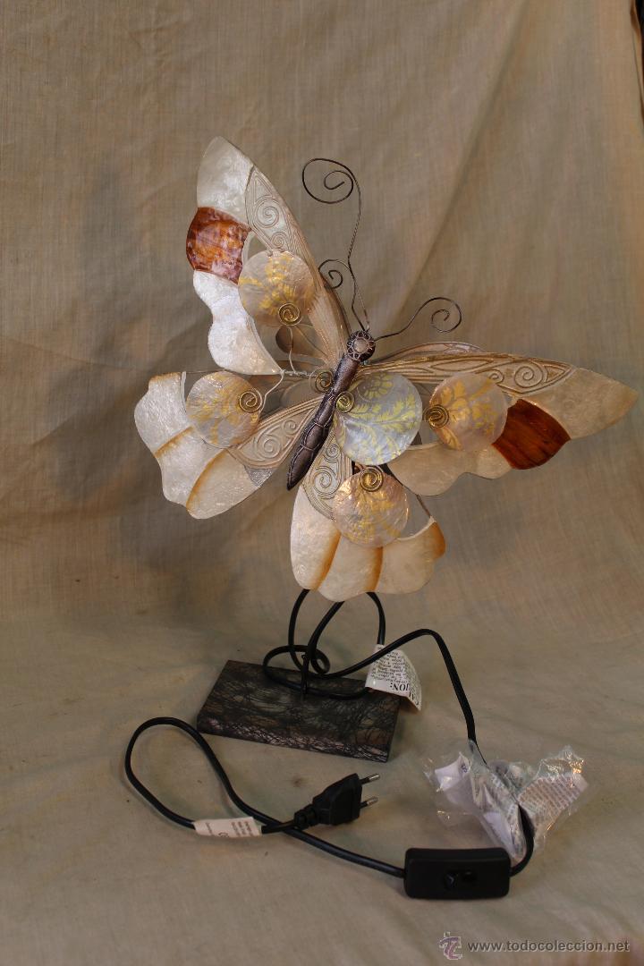 Vintage: LAMPARA MARIPOSA DE SOBREMESA - Foto 2 - 52026639