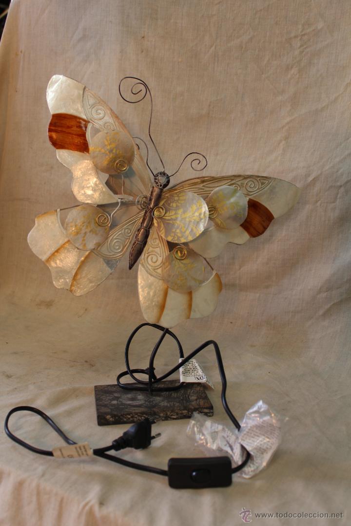 Vintage: LAMPARA MARIPOSA DE SOBREMESA - Foto 3 - 52026639