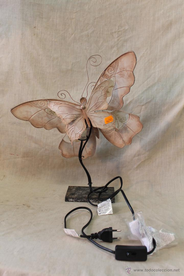 Vintage: LAMPARA MARIPOSA DE SOBREMESA - Foto 4 - 52026639